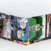 Last Minute Stocking Stuffer Sale// Comic Book Wallet// Alfred helping Batman (Dick Grayson) and Robin (Damian Wayne)