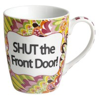 Shut the Front Door Boxed Mug