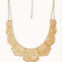 Elegant Cutout Bib Necklace