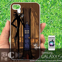 Jack Skellington tardis- iPhone cases 4/4S Case iPhone 5/5S/5C Case Samsung Galaxy S3/S4 Case