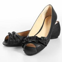 Wanted Ballet Peep Toe Flats