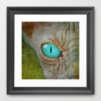 Sphynx Eye Framed Art Print by DarkSide™