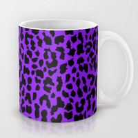 Neon Purple Leopard Mug by M Studio