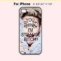 Miley Cyrus,You Think I'm Strange Bitch,iPhone 5 case,iPhone 5C Case,iPhone 5S Case, Phone case,iPhone 4 Case, iPhone 4S Case