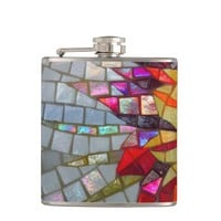 Floral Mosaic Flask