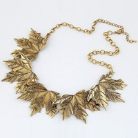 Antique Maple Leaf Choker