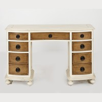 Helena French Style Dressing Table with Mirror | Antique of White French Bedroom Furniture | Contemporary Style Dressing Table