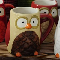The Owl Hand-painted Mugs