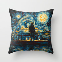 Starry Fall (Sherlock) Throw Pillow by Girardin27