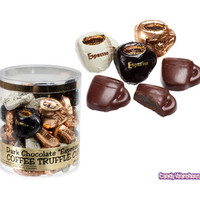 Foiled Dark Chocolate Truffle Coffee Cups: 40-Piece Tub