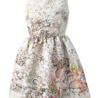 Red Valentino Printed Sleeveless Dress