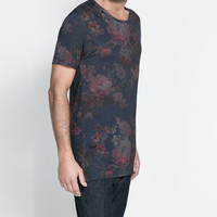 FLORAL SHORT-SLEEVE T-SHIRT
