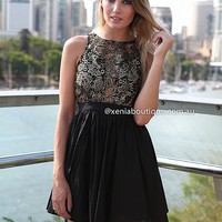 A TOUCH OF GOLD DRESS , DRESSES, TOPS, BOTTOMS, JACKETS & JUMPERS, ACCESSORIES, 50% OFF SALE, PRE ORDER, NEW ARRIVALS, PLAYSUIT, COLOUR, GIFT VOUCHER,,LACE,BACKLESS,Gold,SLEEVELESS,Black Australia, Queensland, Brisbane