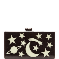 Glow-in-the-Dark Jean Solar System Clutch by Edie Parker for Preorder on Moda Operandi