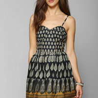 Band Of Gypsies Paisley Fit & Flare Dress - Urban Outfitters