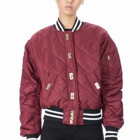 RIHANNA FOR RIVER ISLAND QUILTED NYLON BOMBER JACKET - WOMEN - RIHANNA FOR RIVER ISLAND