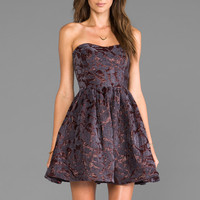 MM Couture by Miss Me Strapless Bustier Dress in Slate