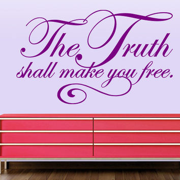 The Truth Shall Make You Free - Religious Wall Decals