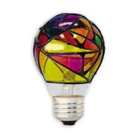25-Watt Stained Glass Light Bulb