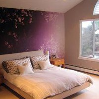 Fog Cherry Blossoms by Karin Bubas (wallcoverings)