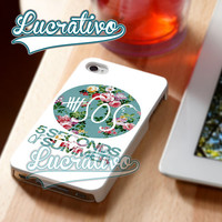 5SOS Vintage Logo - iPhone 4/4s/5/5s/5c Case - Samsung Galaxy S2/S3/S4 Case - Black or White
