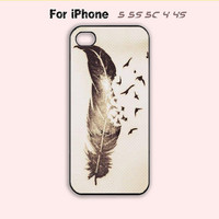 Feather Tattoo,iPhone 5 case,iPhone 5C Case,iPhone 5S Case, Phone case,iPhone 4 Case, iPhone 4S Case