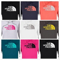 New Women's The North Face Half Dome Hoodie Hoody AAZX Sweatshirt / Pink Ribbon