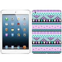 Apple iPad Mini Aztec Andes Mauve and Teal Pattern Phone Case Cover