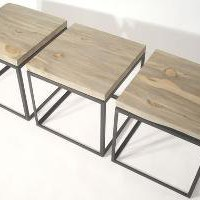 Blue Pine Cubes Table or Seat by bDagitzFurniture on Etsy