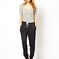 Selected Lega Sweat Pants in Burn Out -