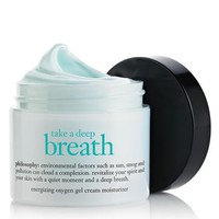 take a deep breath | oil-free energizing oxygen gel cream moisturizer | philosophy moisturize