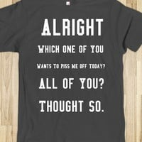 WHICH ONE OF YOU GRAPHIC T-SHIRT