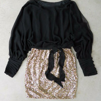 Sparkling Darling Dress in Black [4670] - $36.80 : Vintage Inspired Clothing & Affordable Dresses, deloom | Modern. Vintage. Crafted.