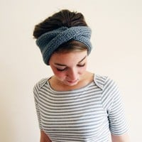 Twist Earwarmers in Light Grey by YesJess on Etsy