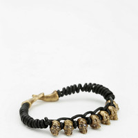 Alkemie Skulls Leather Bracelet - Urban Outfitters