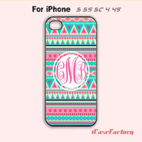 Personalized INITIALS -iphone 5/5s case - iphone 4/4s case - iphone 5c case -Monogram