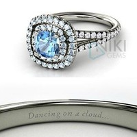 925 Sterling Silver Disney inspired Cinderella Princess Engagement Rings with CZ