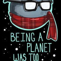 Hipster Pluto Art Print by LookHUMAN