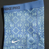 NEW! Blue Dot Print [L] NIKE PRO Women's Dri-FIT Compression Shorts Size Large
