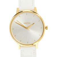 Nixon Kensington White Patent Leather Watch - White