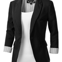 9XIS Women's Tailored Boyfriend Blazer