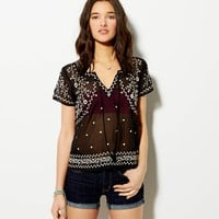 AE EMBROIDERED CHIFFON T-SHIRT