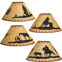 Western Silhouette Lamp Shades - Lighting - Home