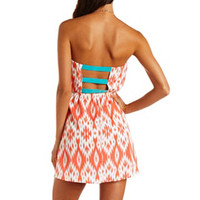 BAR-BACK PRINTED TUBE DRESS