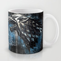 Game of thrones Stark clan Silver Chrome Winter Wolf Mug by Three Second