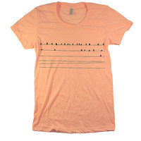 Women's  American Apparel T Shirt  BIRDS  by FullSpectrumClothing