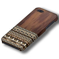 Geometric Aztec on Unique Wood Tribal iPhone Case Cover, iPhone 5 Case,iPhone 5s Case, iPhone 4, iPhone 4s Case, iPhone 5c,Samsung Galaxy S4