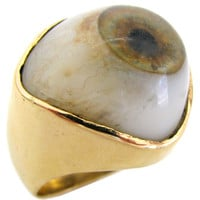An Amusing Gold and Glass Ring, circa 1970