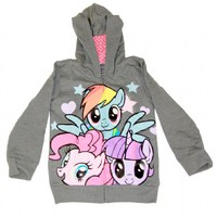 My Little Pony Every Pony Pile Up Toddler Charcoal Zip Up Hoodie Sweatshirt