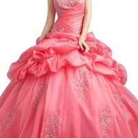 Gorgeous Bridal Classic Sweetheart Long Organza Quinceanera Dresses